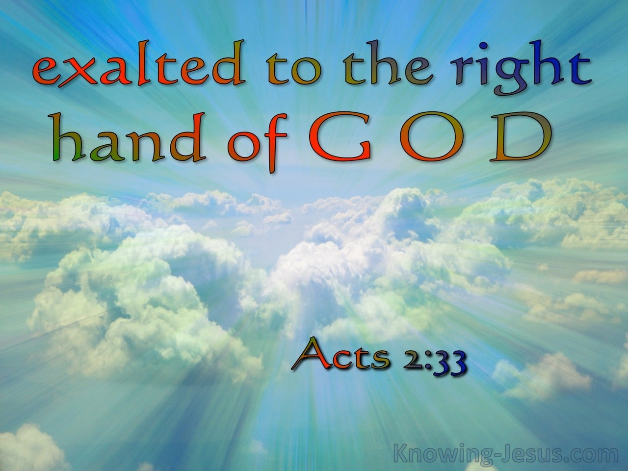 Acts 2:33 Exaulted To The Right Hand Of God (red)