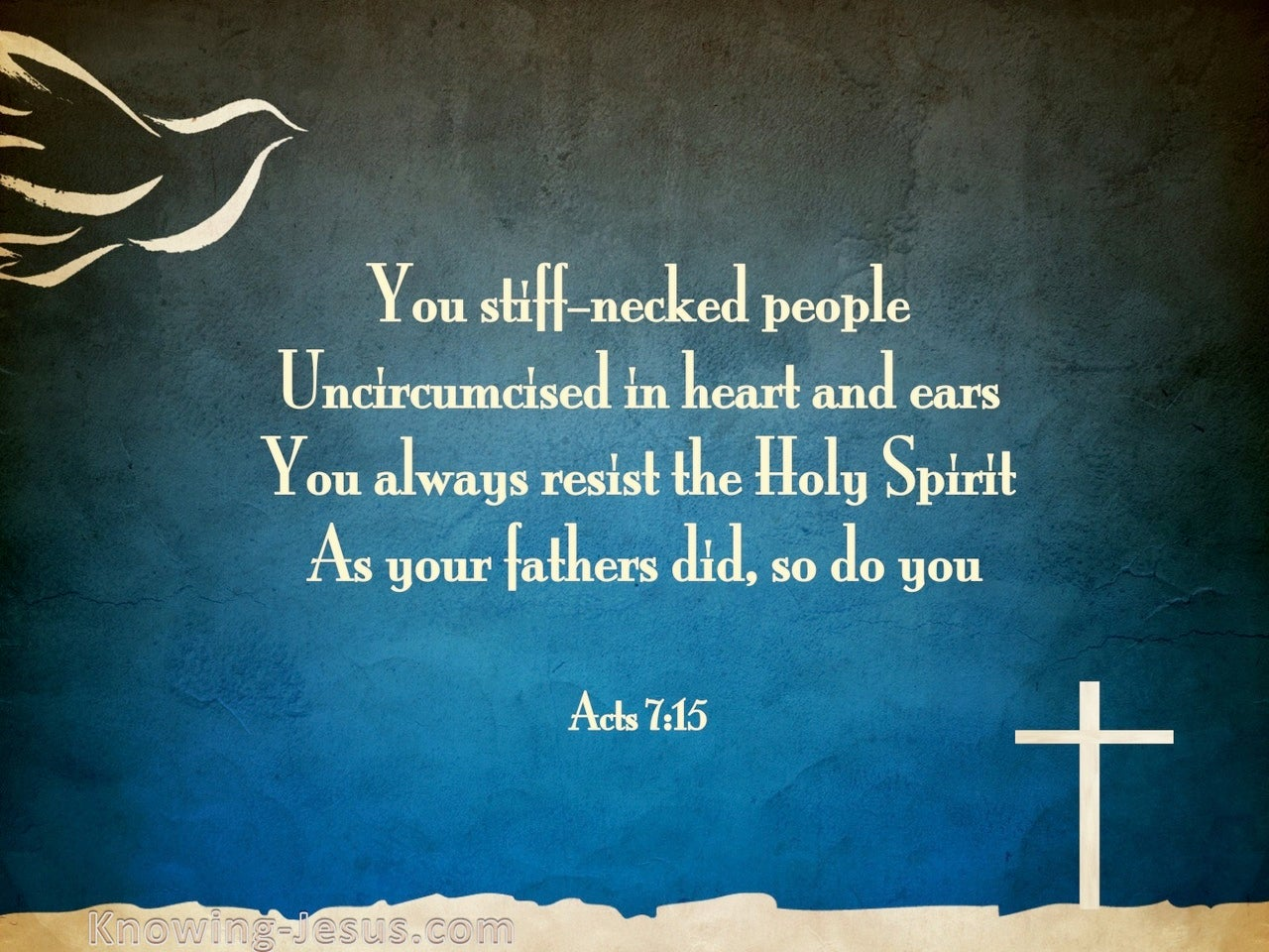 Acts 7:51 You Resist The Spirit (blue)