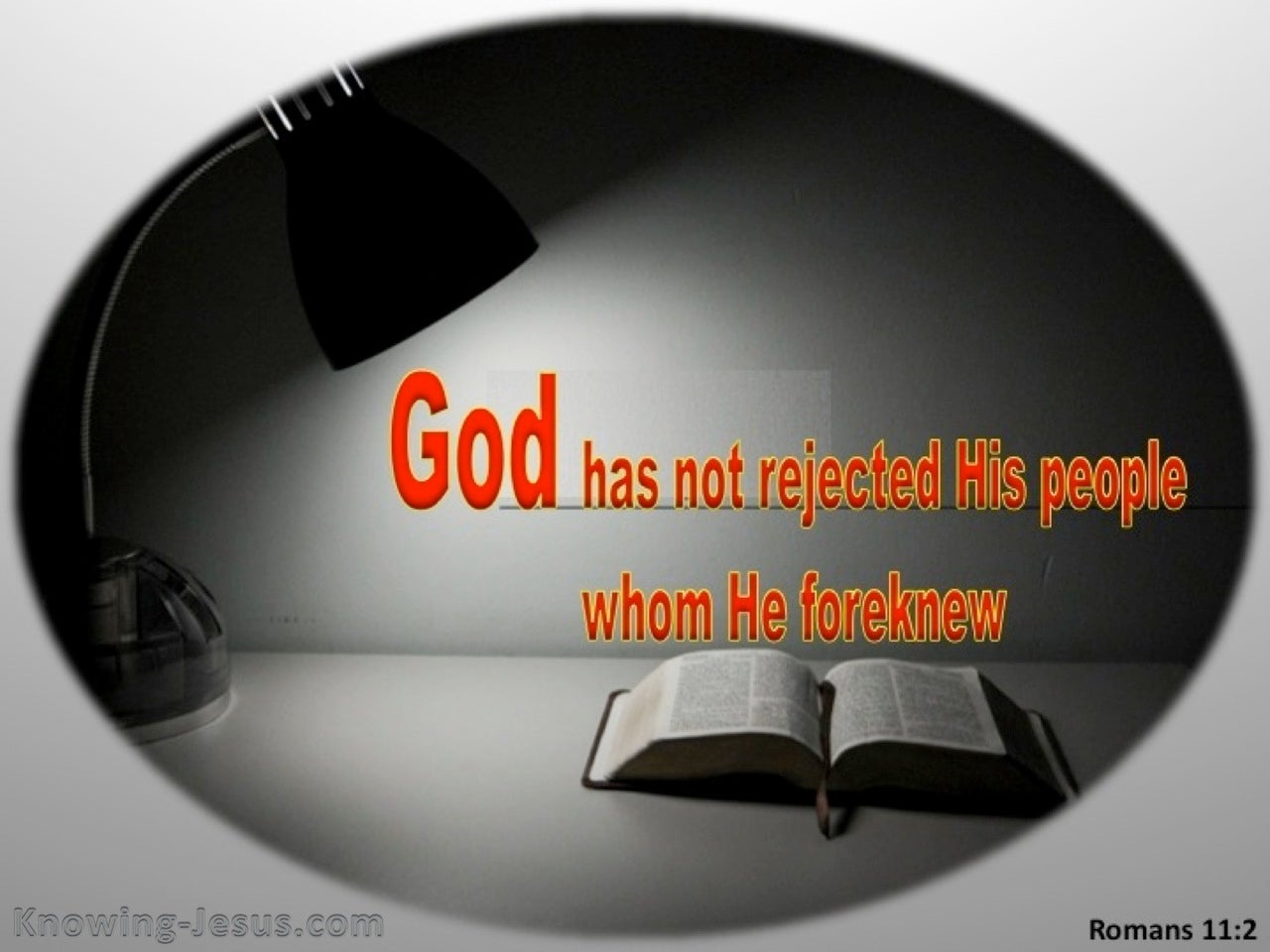 Romans 11:2 God Has Not Rejected His People (orange)