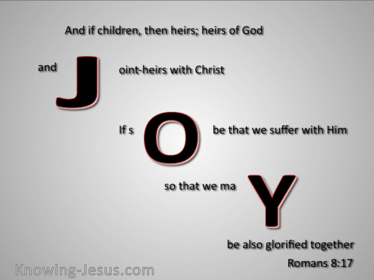 Romans 8:17 Joint Heirs With Christ (gray)