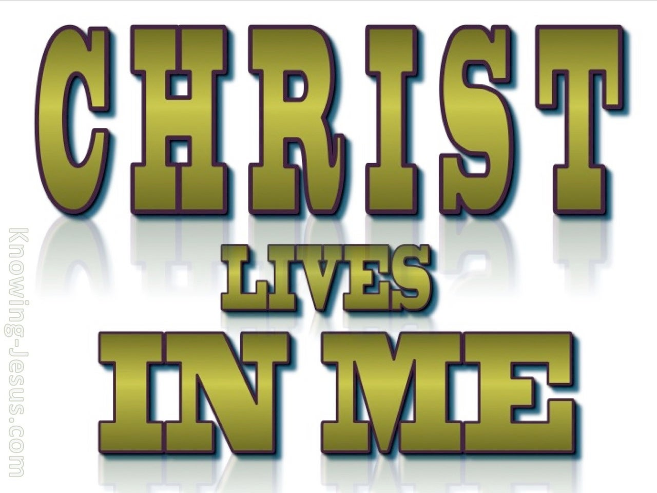 Galatians 2:20 Christ Lives In Me (sage)