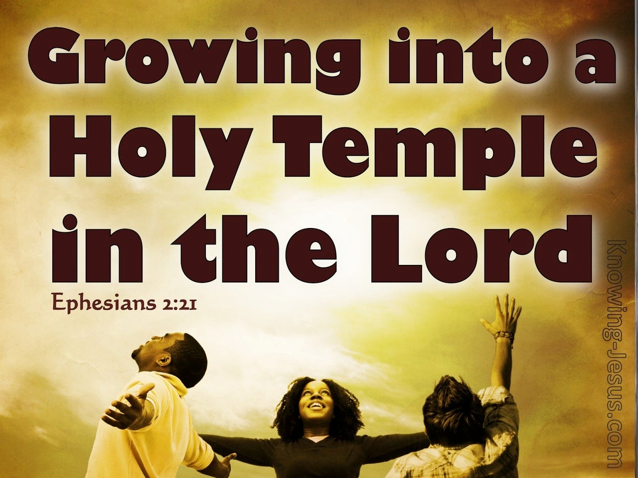 Ephesians 2:21 Growing Into A Holy Temple (brown)