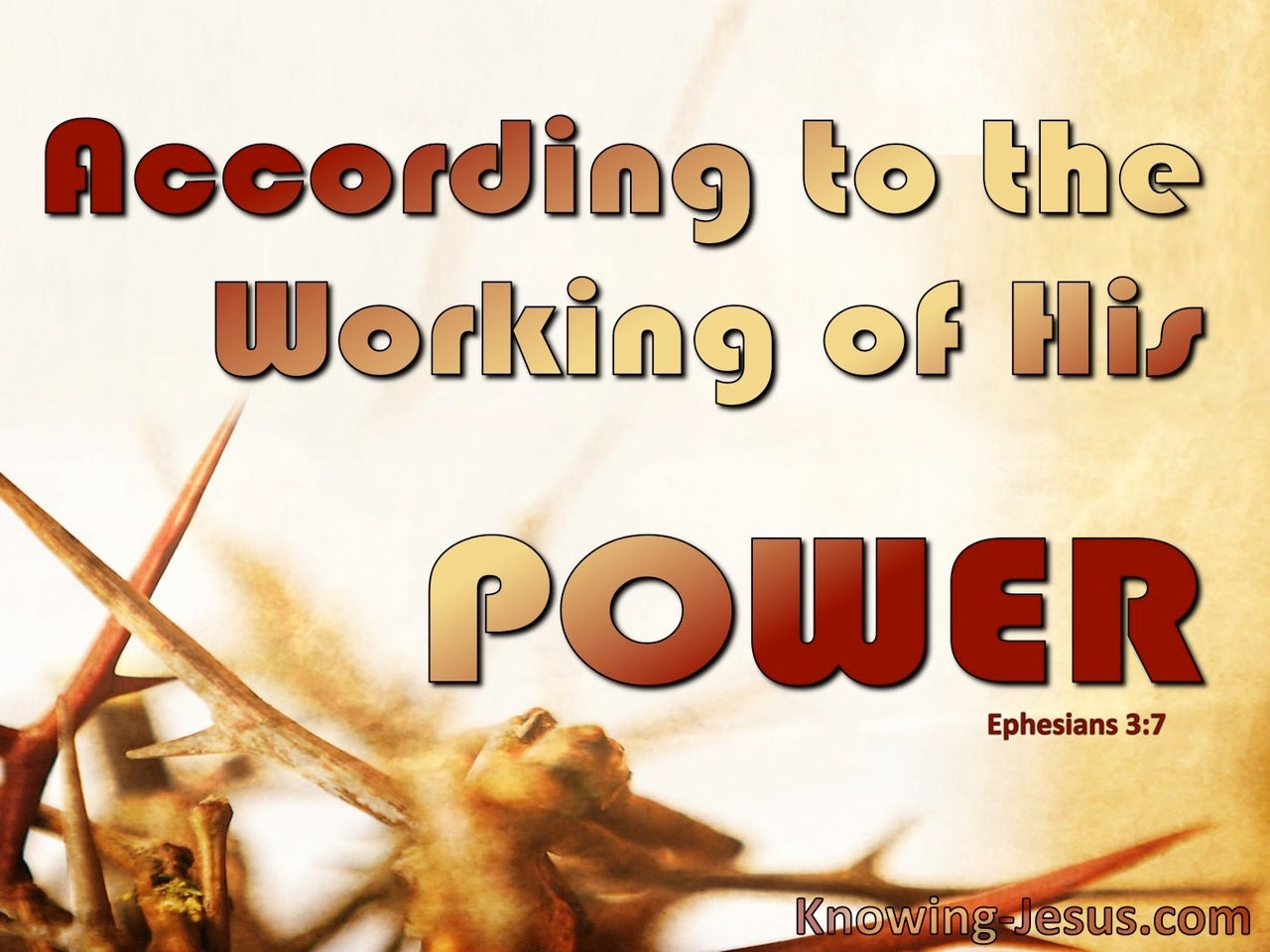 Ephesians 3:7 The Gospel Of Christ According To His Power (red)