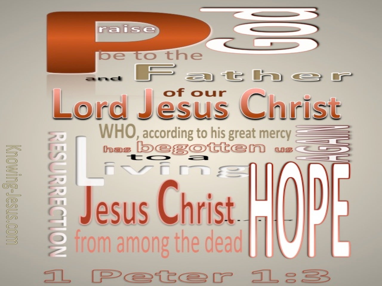 1 Peter 1:3 A Living Hope (gray)