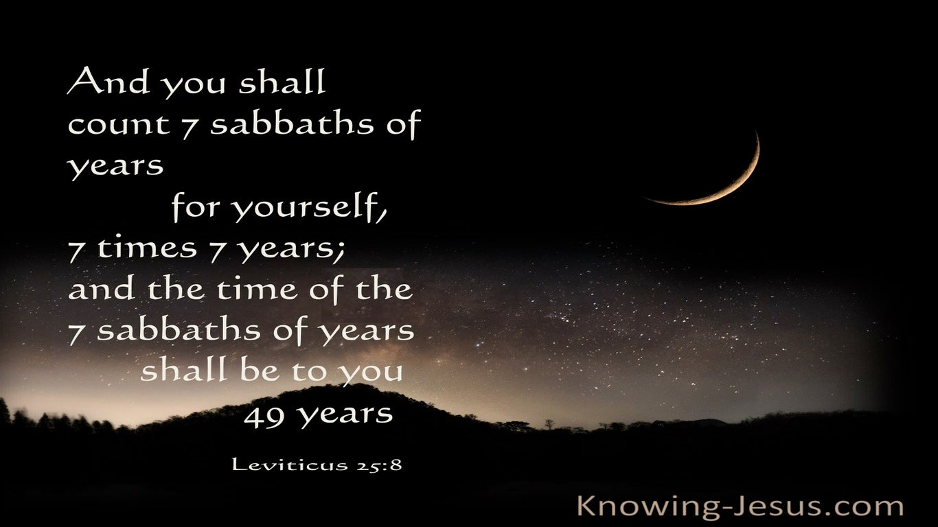 Leviticus 25:8 You Are Also To Count Off Seven Sabbaths Of Years For Yourself (beige)