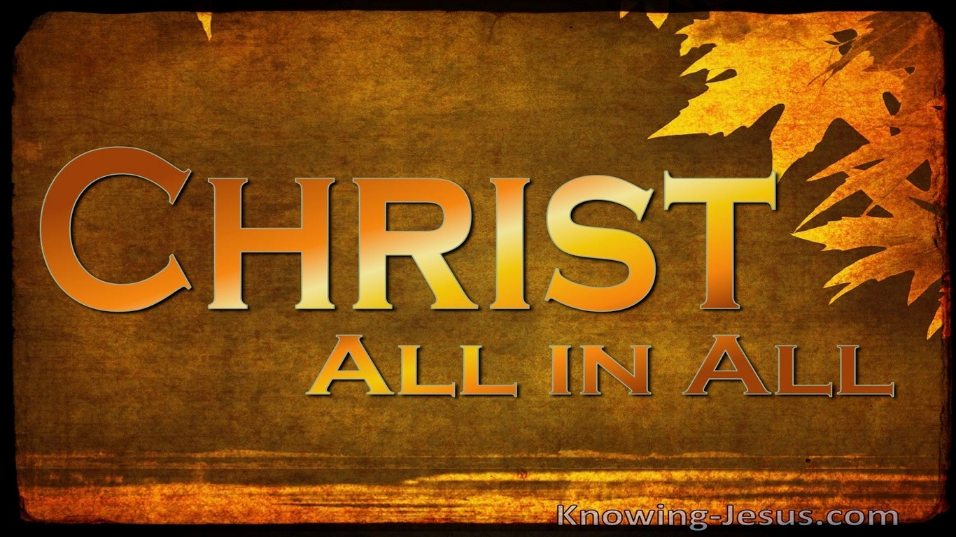Colossians 3:11 But Christ Is All And In All (brown)