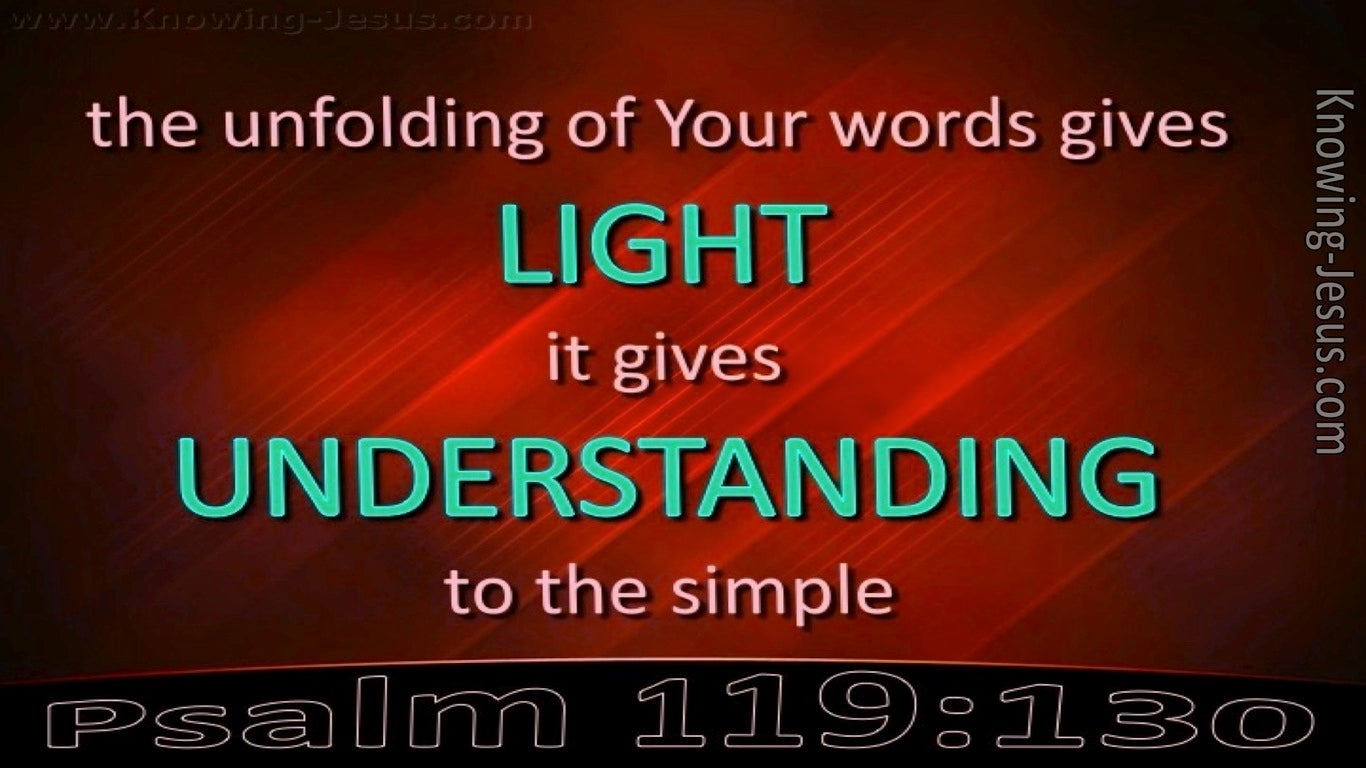 Psalm 119:130 Light of Understanding (red)