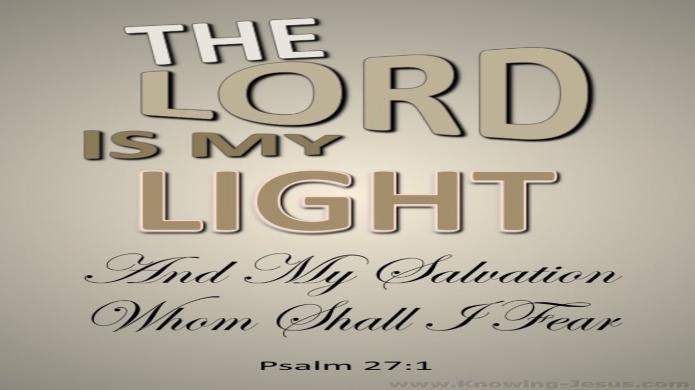 Psalm 27:1 The Lord My Light And My Salvation (beige)