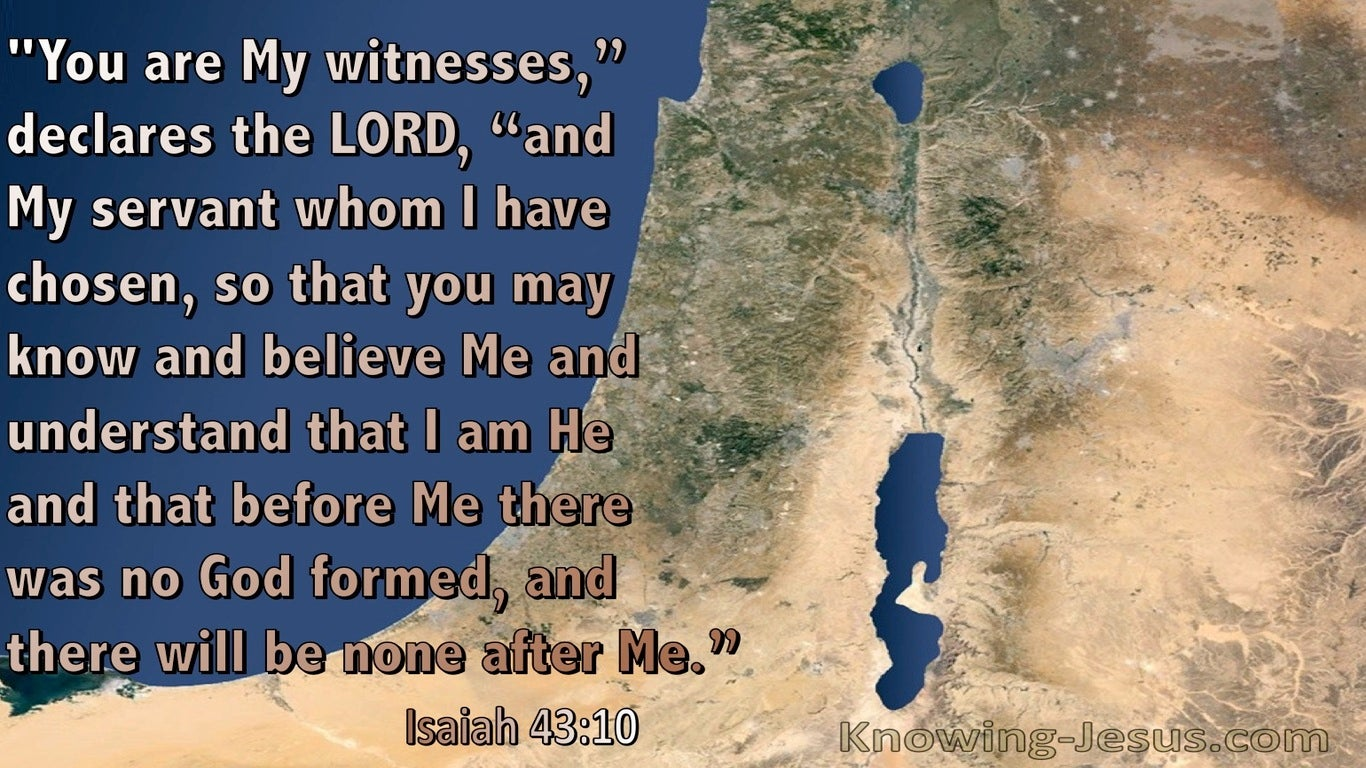 Isaiah 43:10 You Are My Witnesses My Sevants Who I Have Chosen (blue)