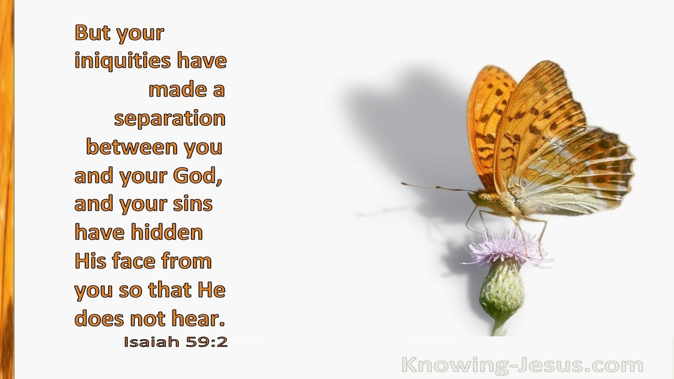 Isaiah 59:2 Your Iniquities Have Made A Separation Between You And God (white)