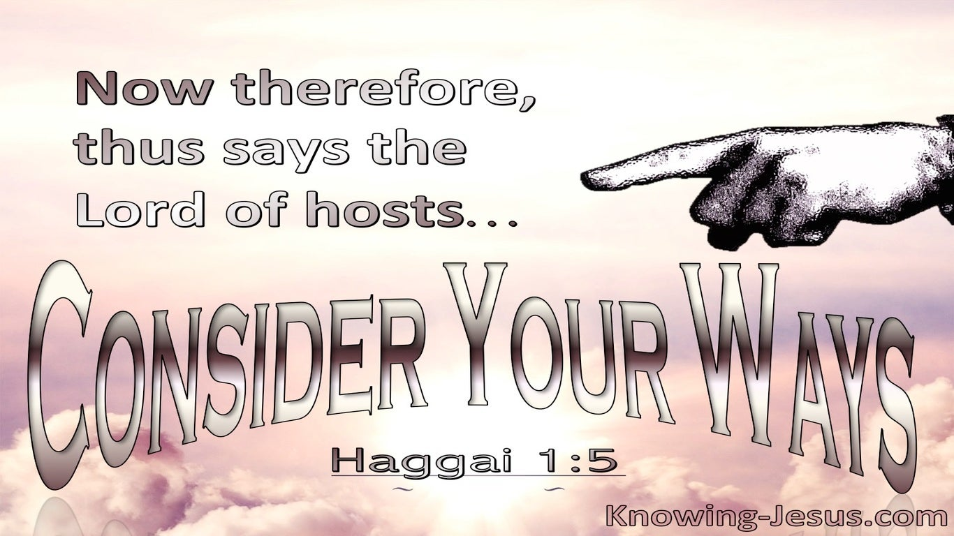 Haggai 1:5 Consider Your Ways (pink)