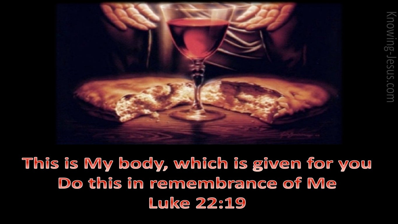 Luke 22:19 Do This In Remembrance (black)