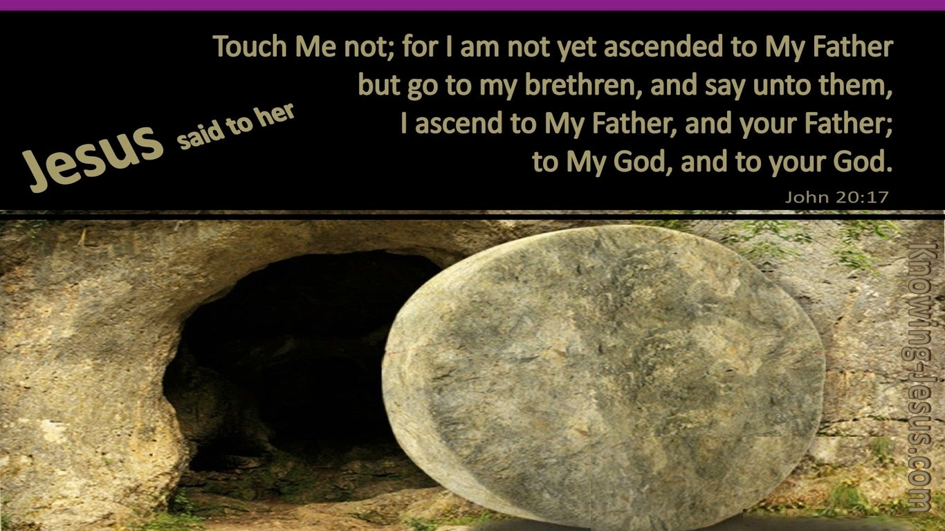 John 20:17 Touch Me Not I Am Not Yet Ascended (brown)