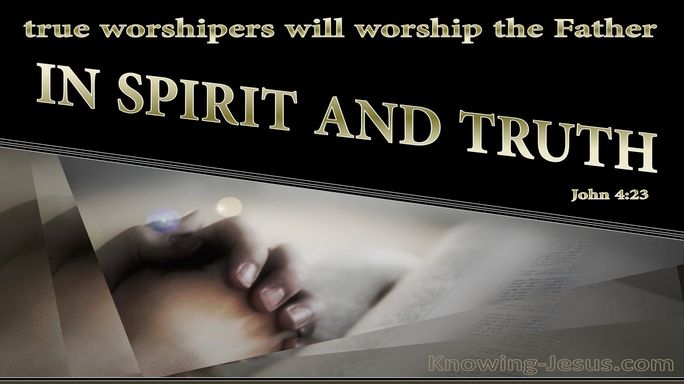 John 4:23 Worship In Spirit And Truth (gold)