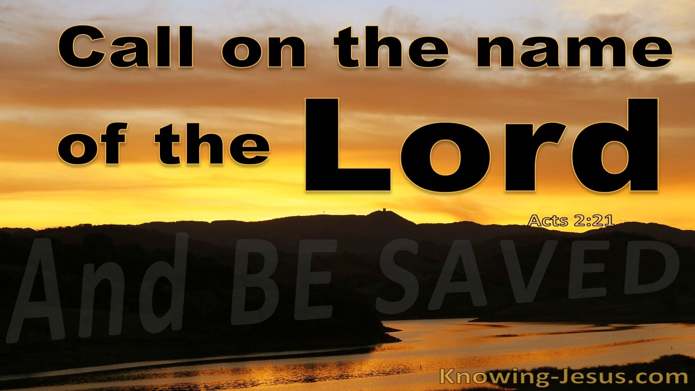Acts 2:21 Whoever Calls On The Name Of The Lord Will Be Saved (black)