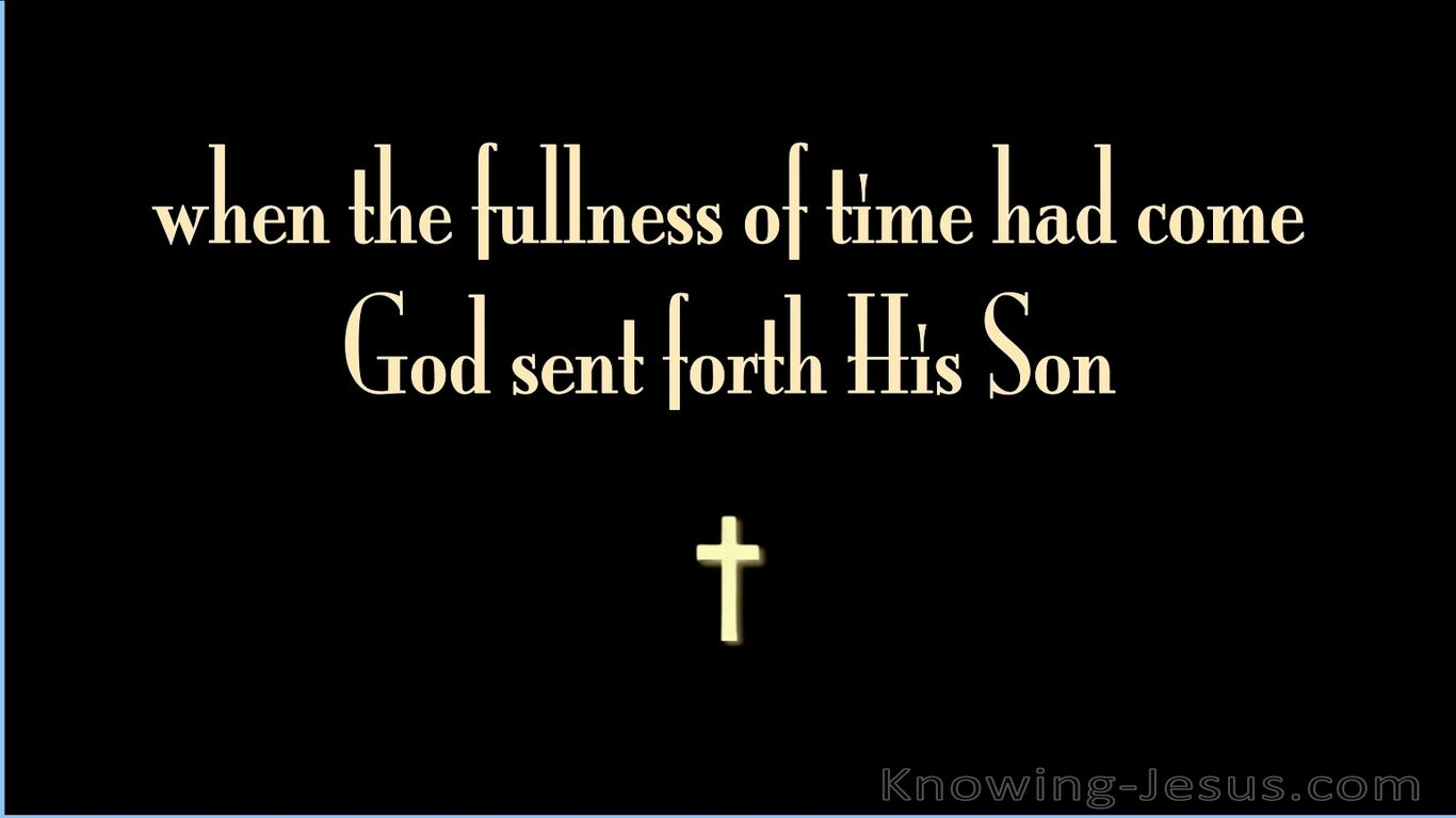 A Time to Die (devotional) (black) - Galatians 4:4