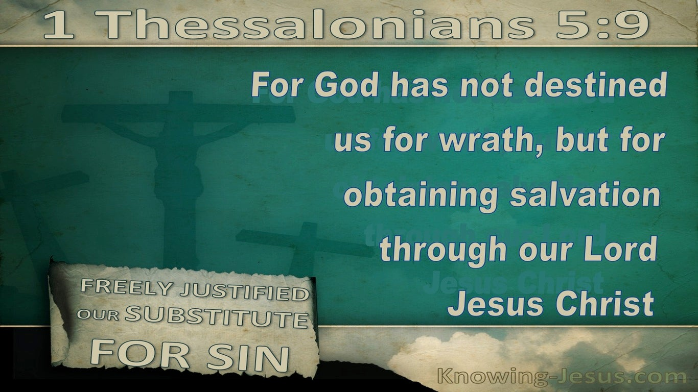 1 Thessalonians 5:9 God Has Not Destined Us For Wrath (beige)