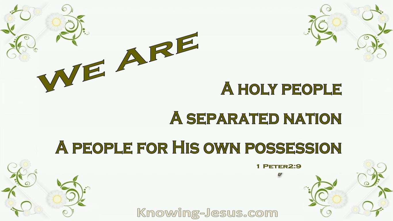 1 Peter 2:9 Called and Chosen (devotional)11-16 (green)