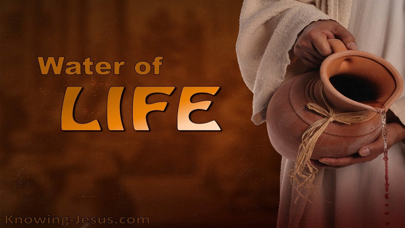 The Water Of Life (devotional) (brown) - Revelation 21:6