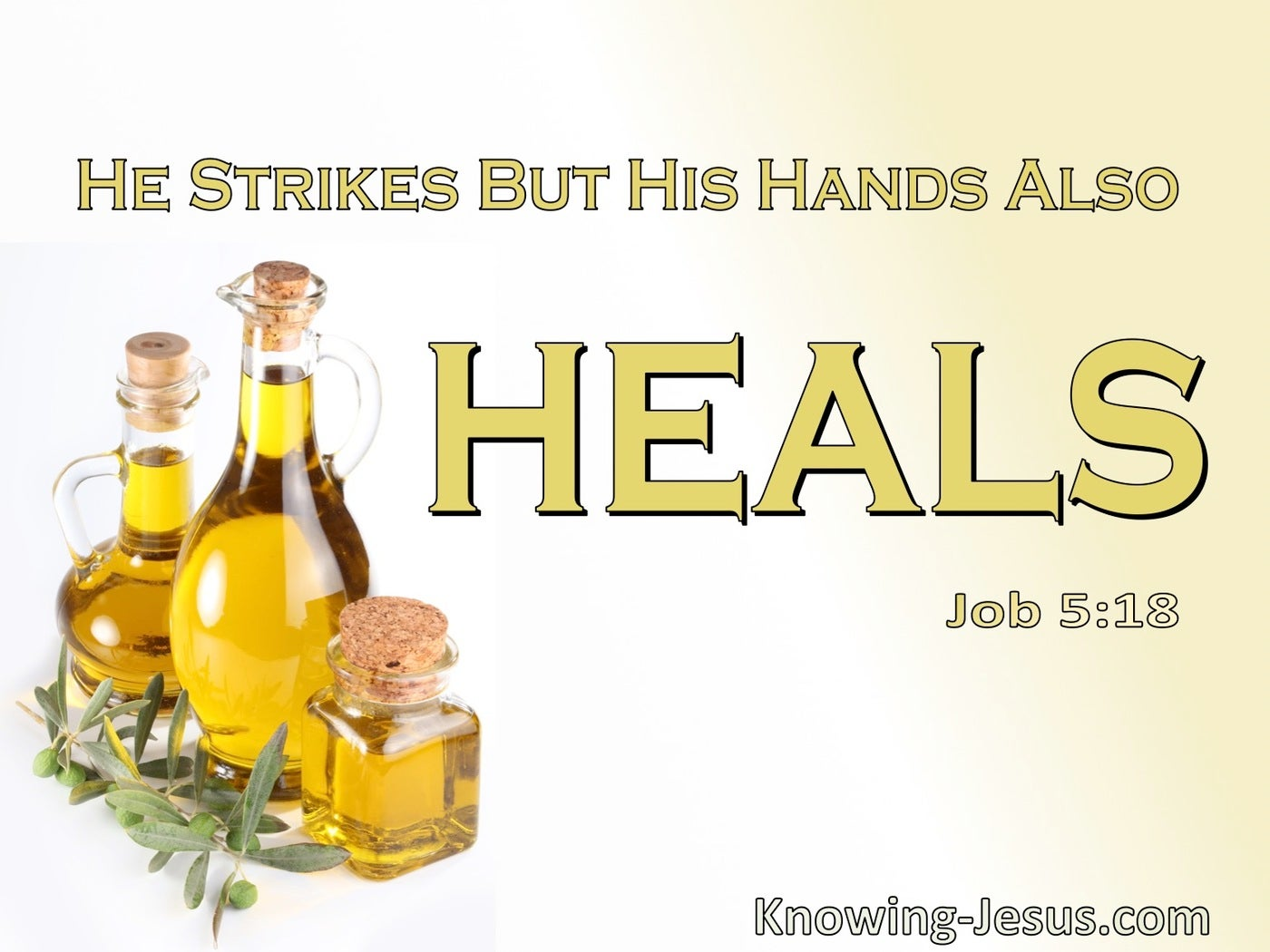 Job 5:18 He Woulds But Also Heals (sage)