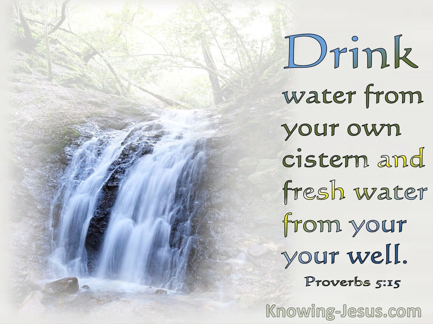 Proverbs 5:15 Drink Water From Your Own Cistern (gray)