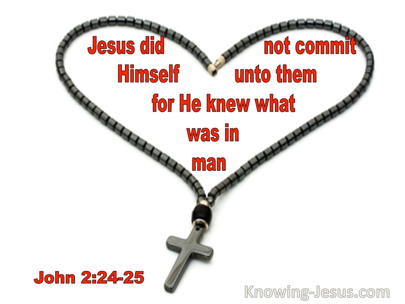 John 2:24 Jesus Did Not Commit Himself To Them For He Knew What Was In Man (utmost)05:31