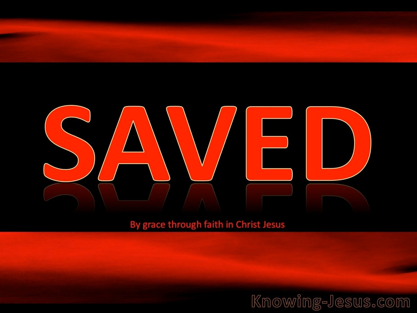 1 Corinthians 3:15 Saved Yet As Though By Fire (red)