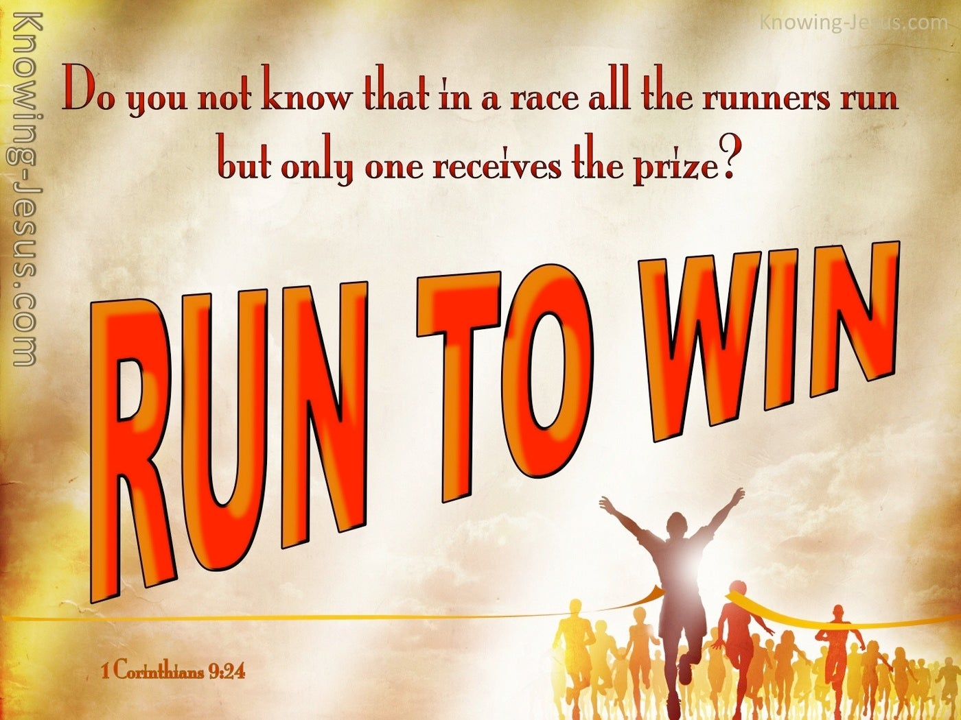 1 Corinthians 9:24 Run To Win (orange)