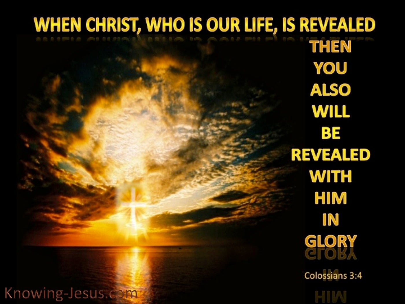 Colossians 3:4 Christ Who Is Our Life (gold)