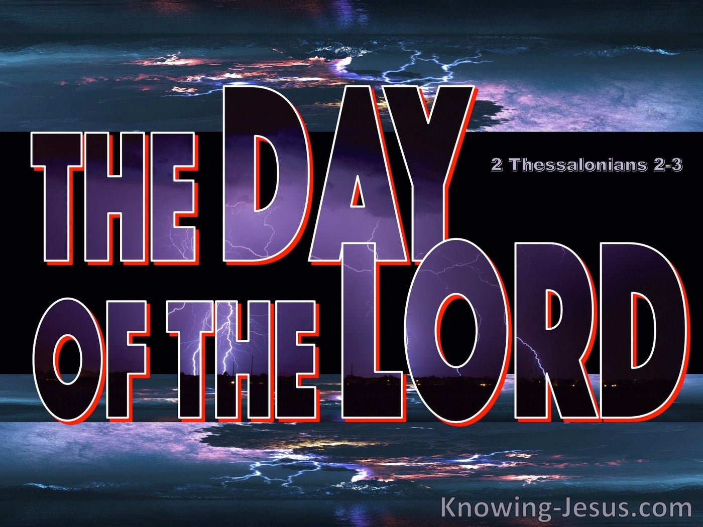 2 Thessalonians 2:3 The Day Of The Lord (gray)
