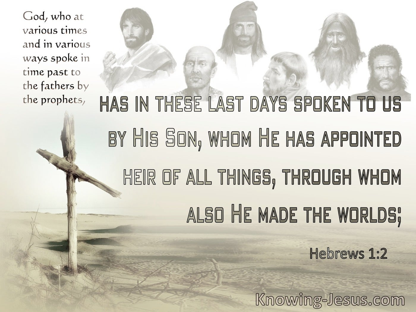 Hebrews 1:2 God In These Last Days Has Spoken By His Son (brown)