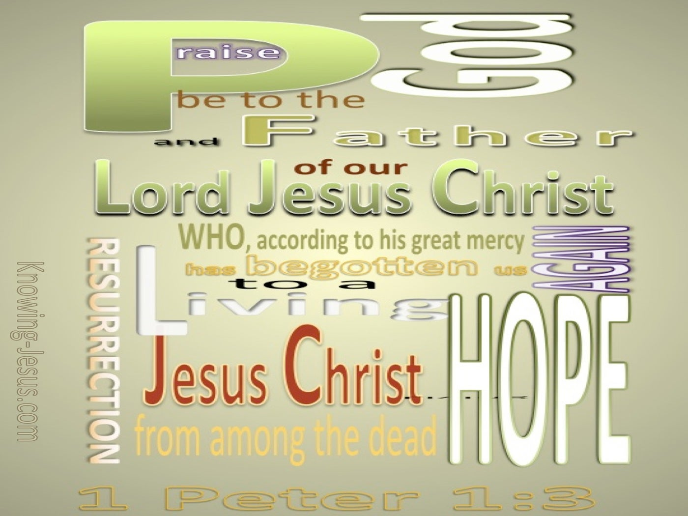 1 Peter 1:3 A Living Hope (green)