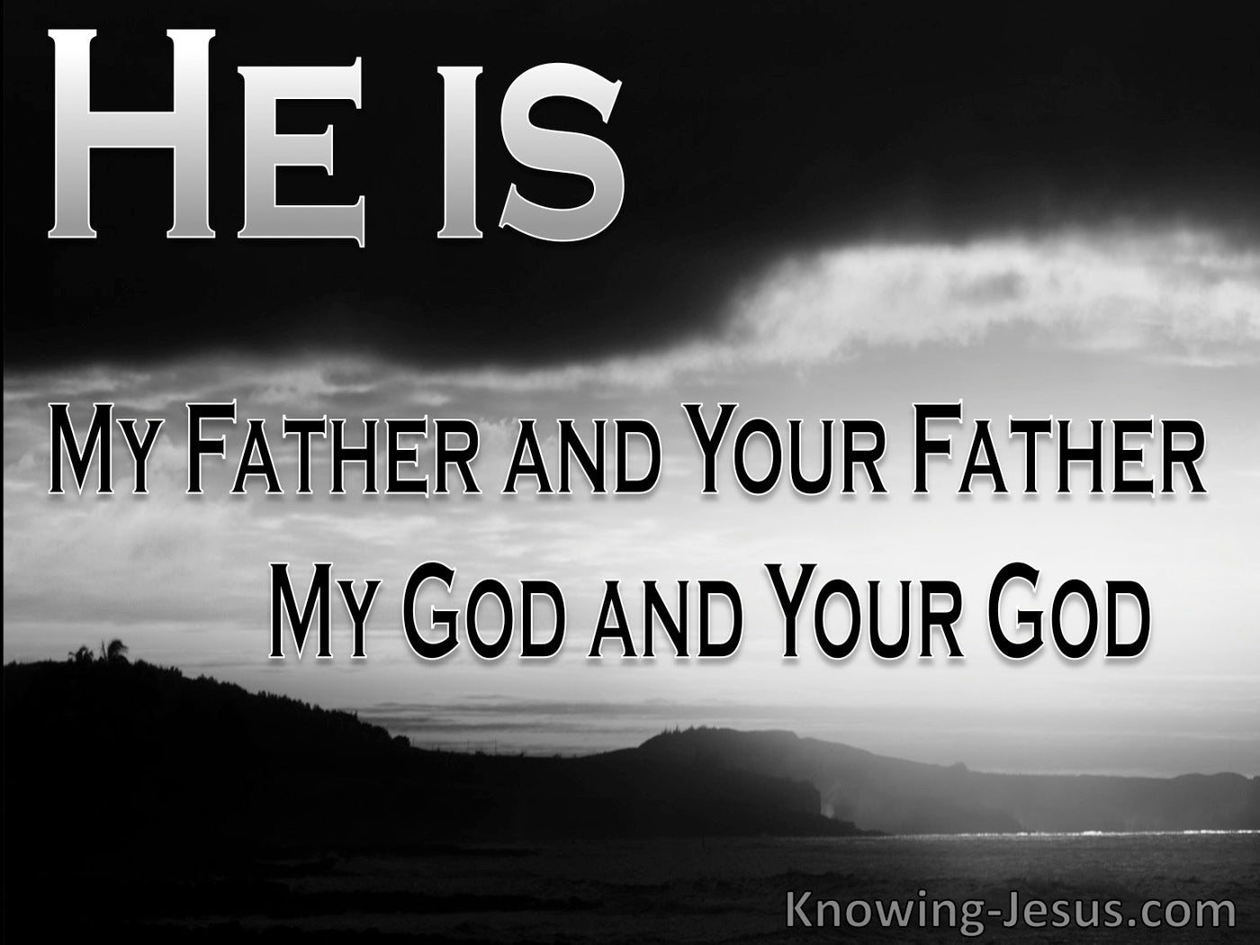John 20:17 My God My Father (devotional)01:06 (gray)