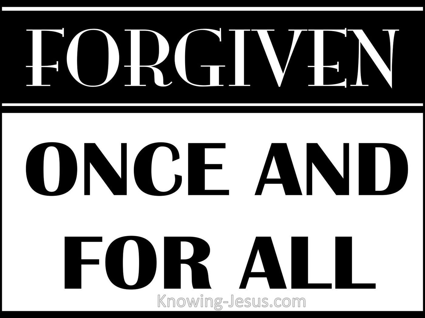 SALVATION - Forgiven Once For All (black)