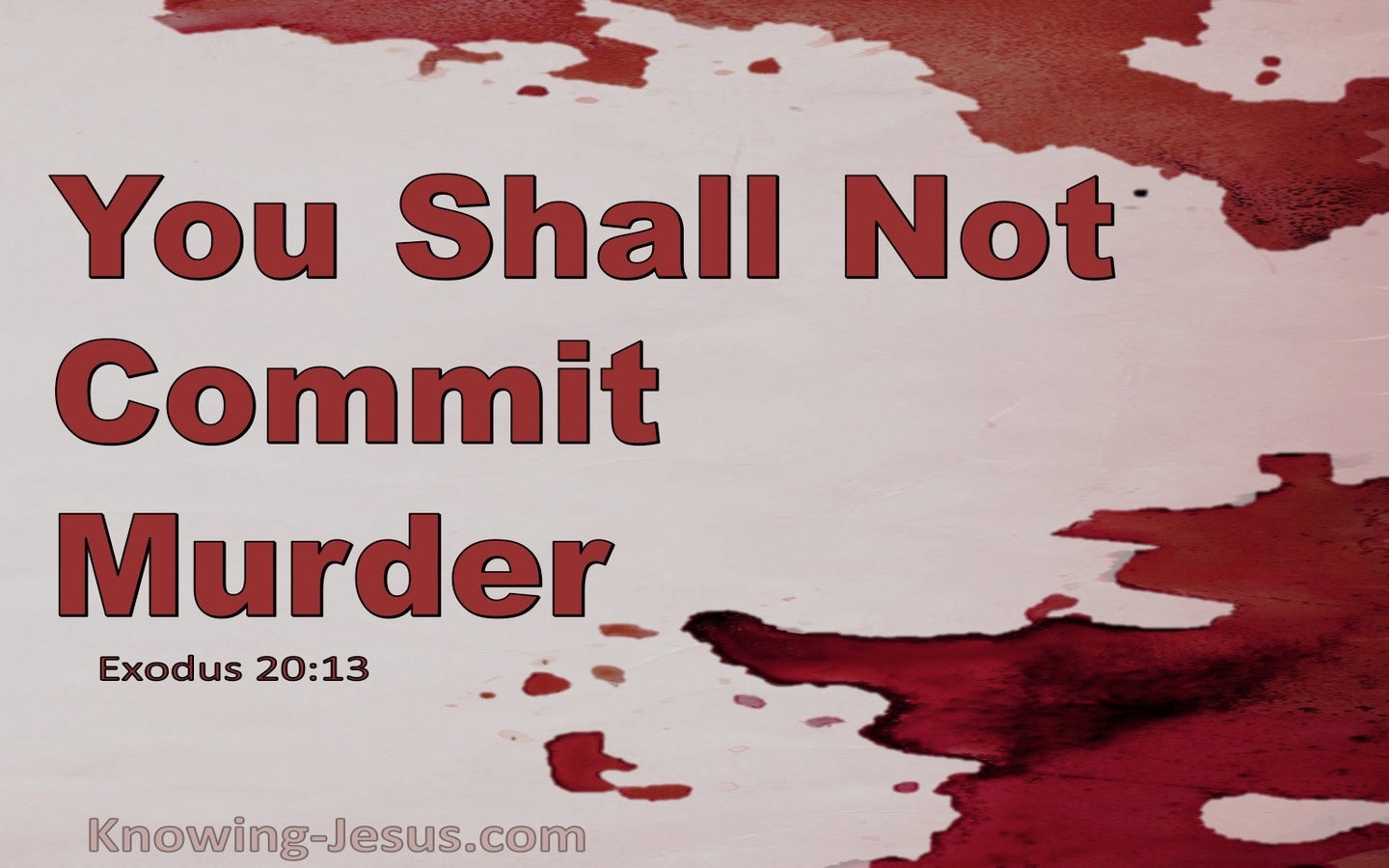 Exodus 20:13 You Shall Not Murder (red)