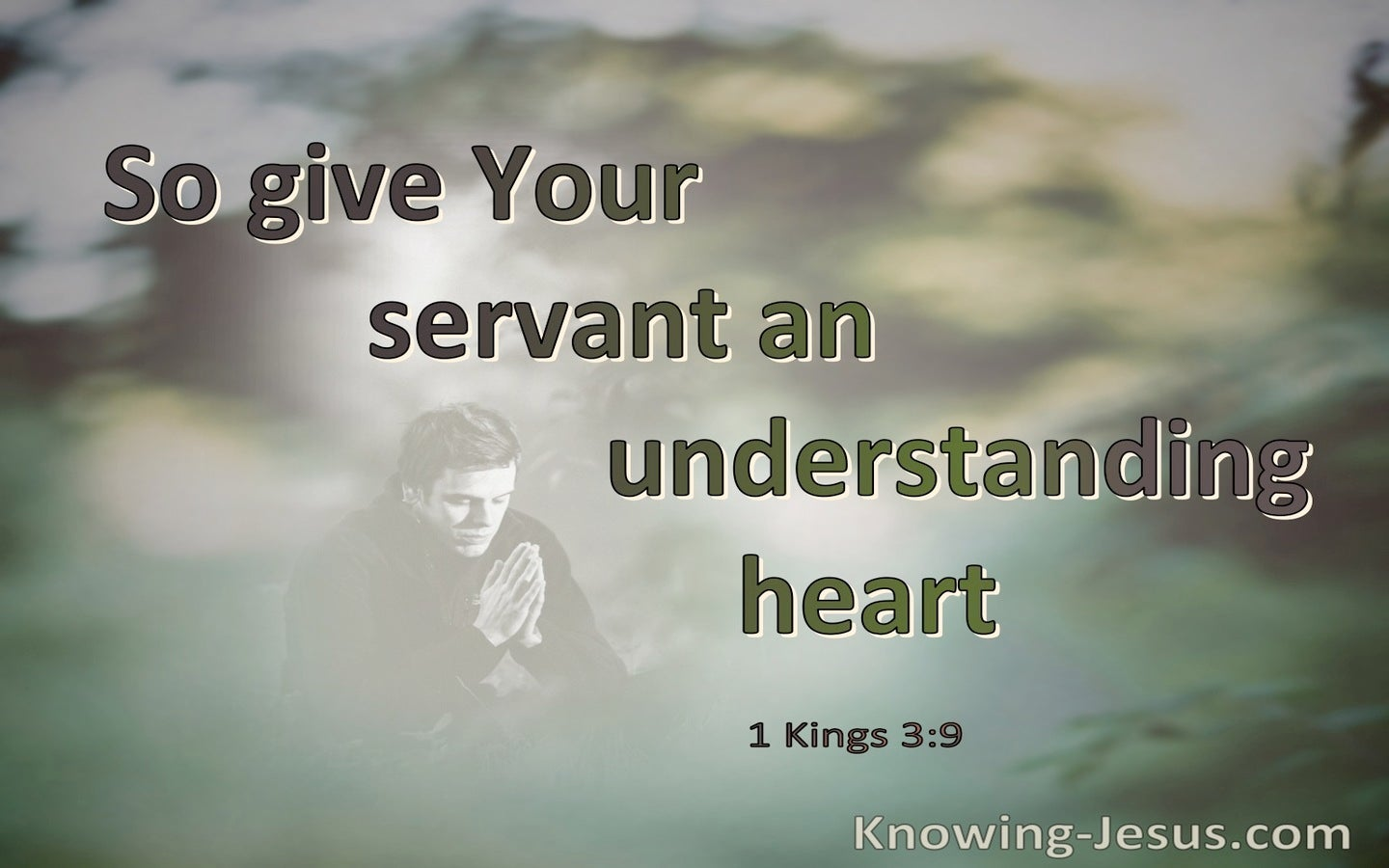 1 Kings 3:9 Give Your Servant An Understanding Heart  (green)