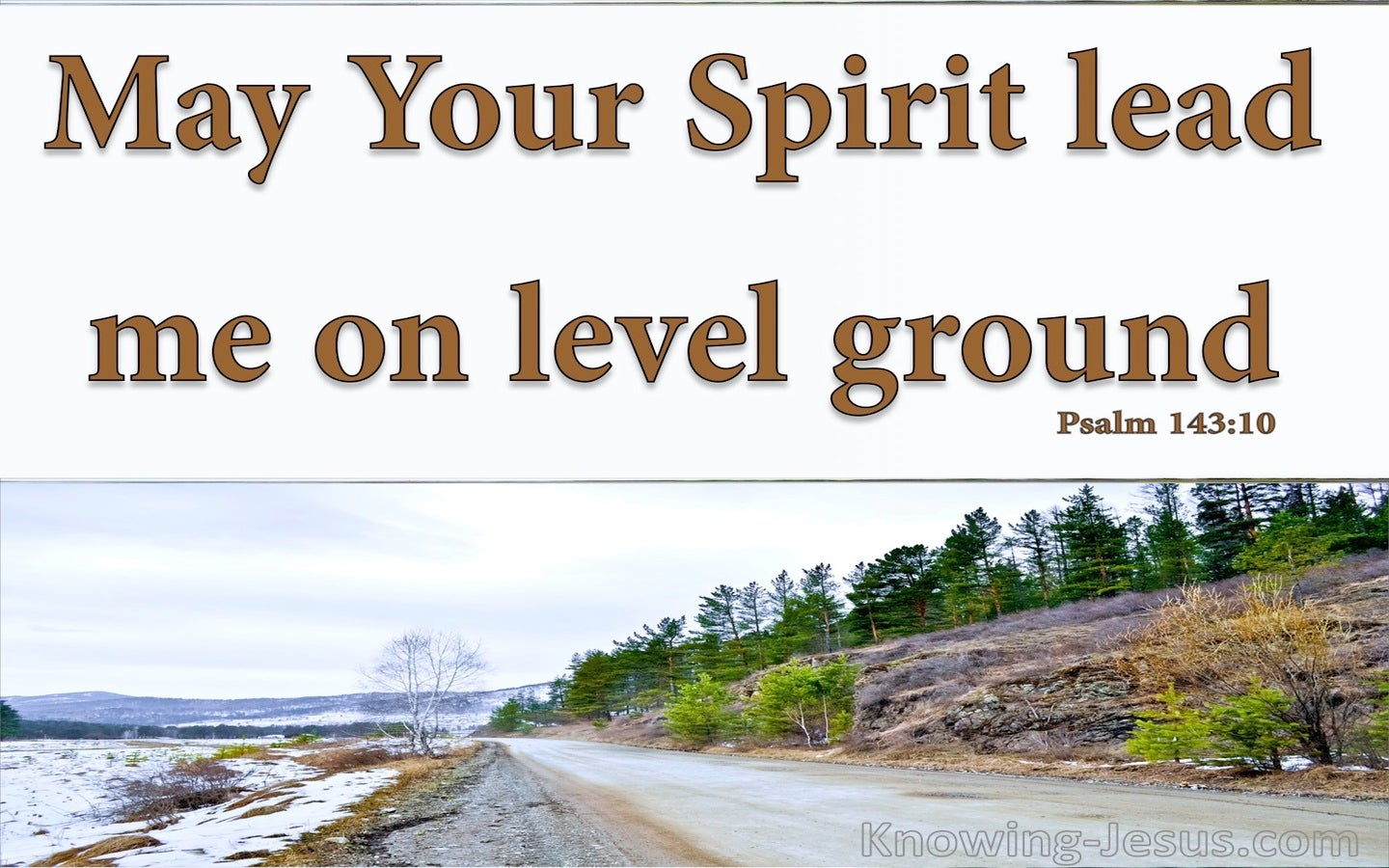 Psalm 143:10 Lead Me On Level Ground (brown)
