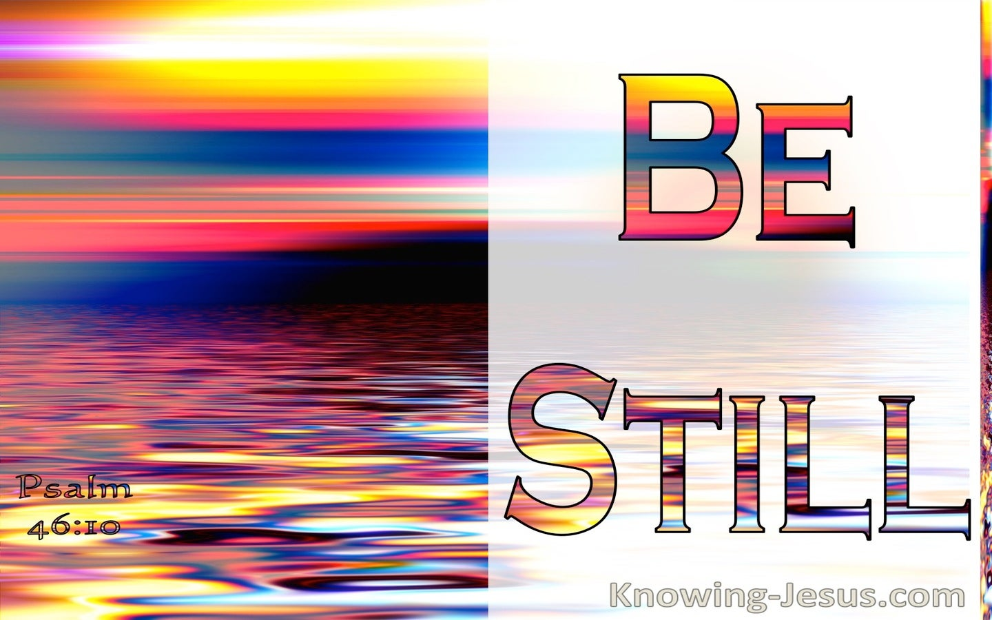 Psalm 46:10 Be Still, And Know That I Am God (red)