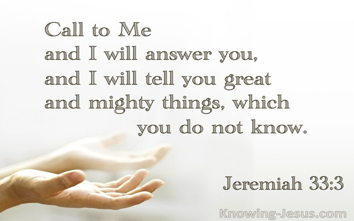 Jeremiah 33:3 Call To Me And I Will Answer (cream)