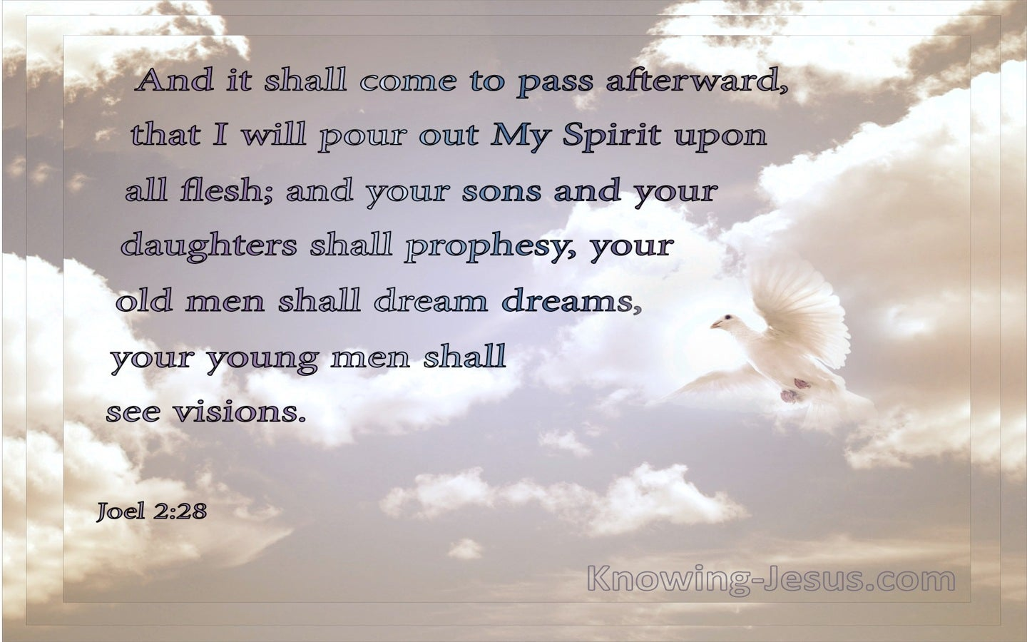 Joel 2:28 I Will Pour Our My Spirit Upon All Flesh (gray)