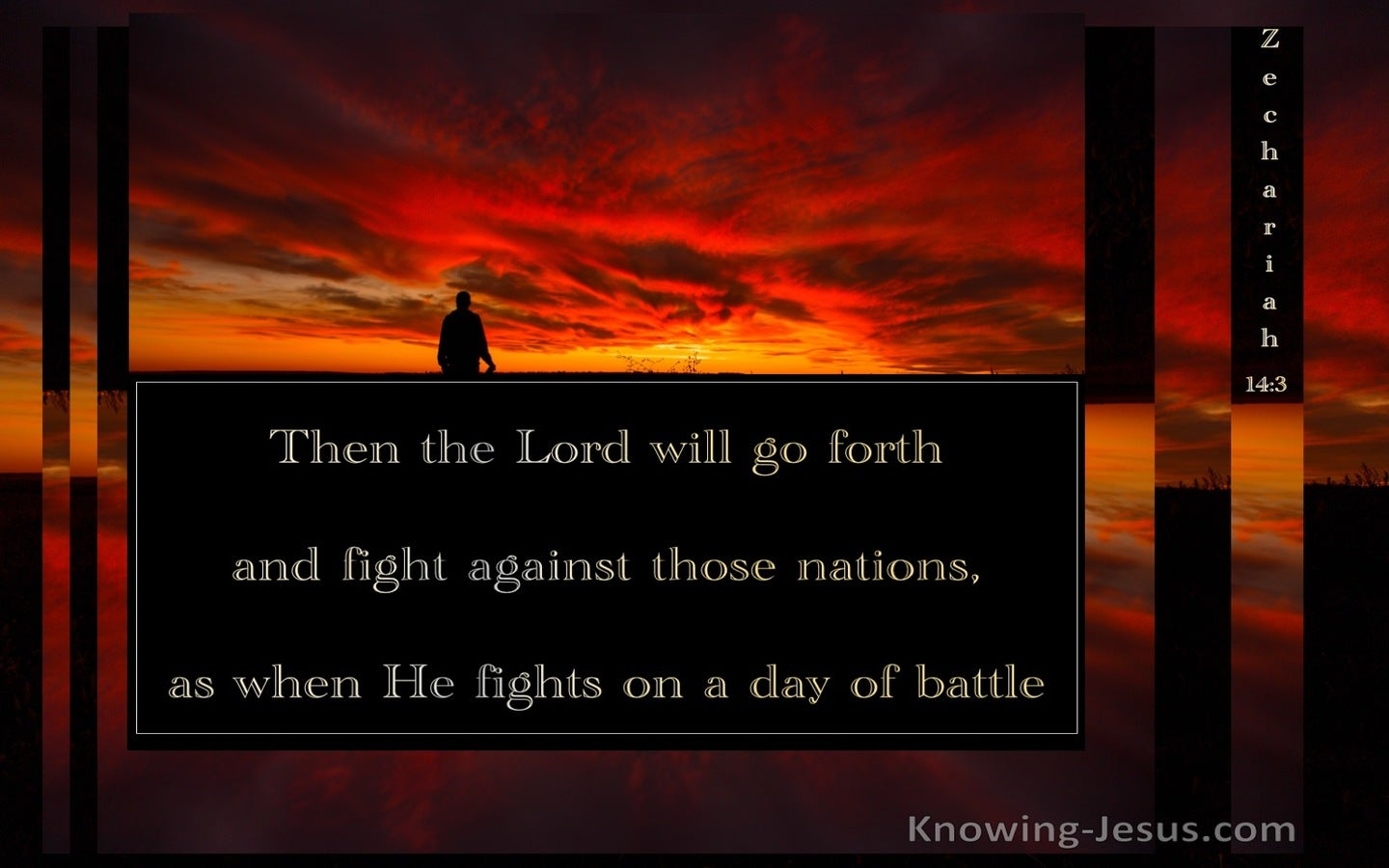 Zechariah 14:3 Then The Lord Will Go Forth And Fight (orange)