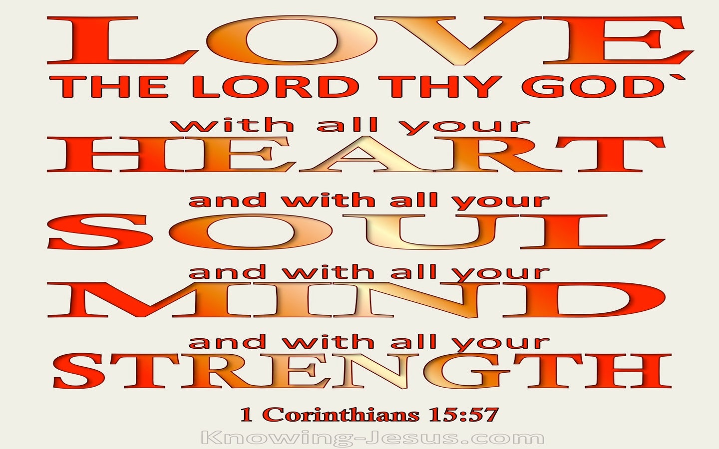 Mark 12:30 Love The Lord Your God With All Your Heart (orange)
