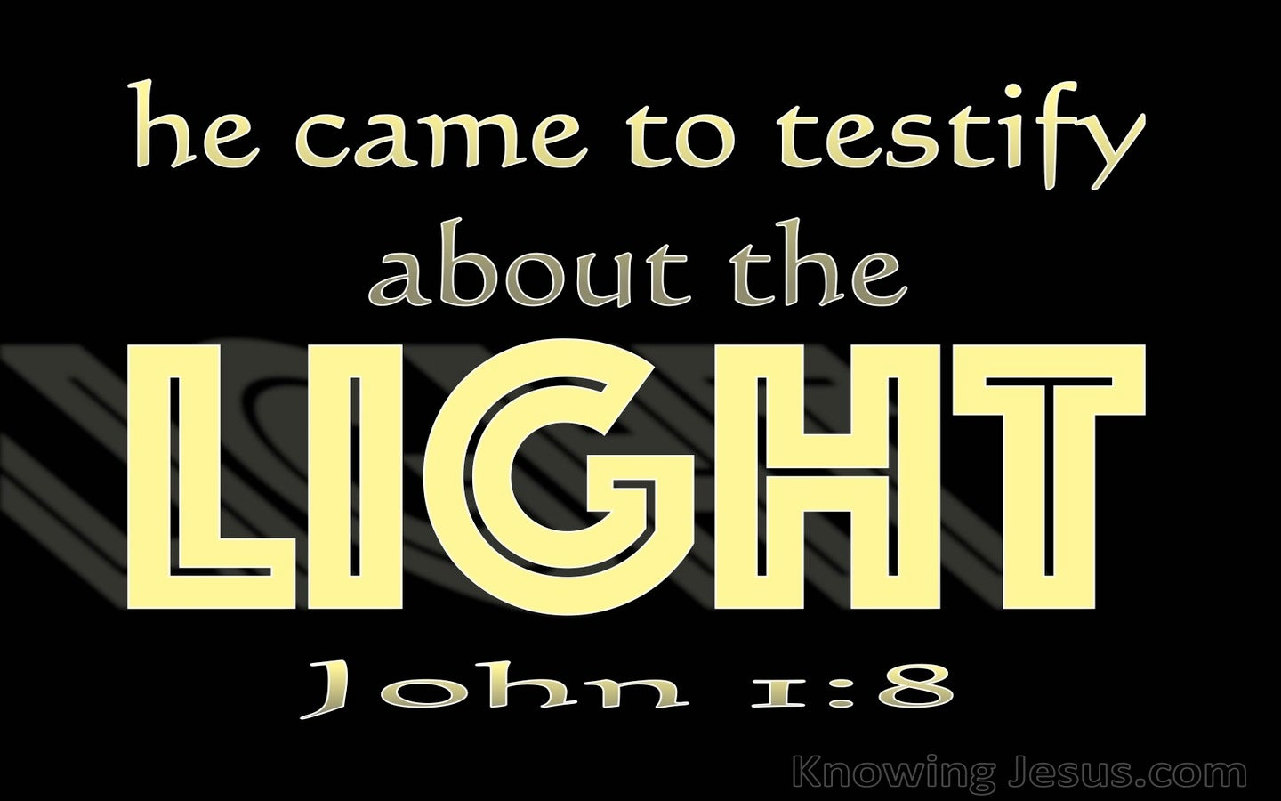 John 1:8 He Came To Testity About The Light (black)