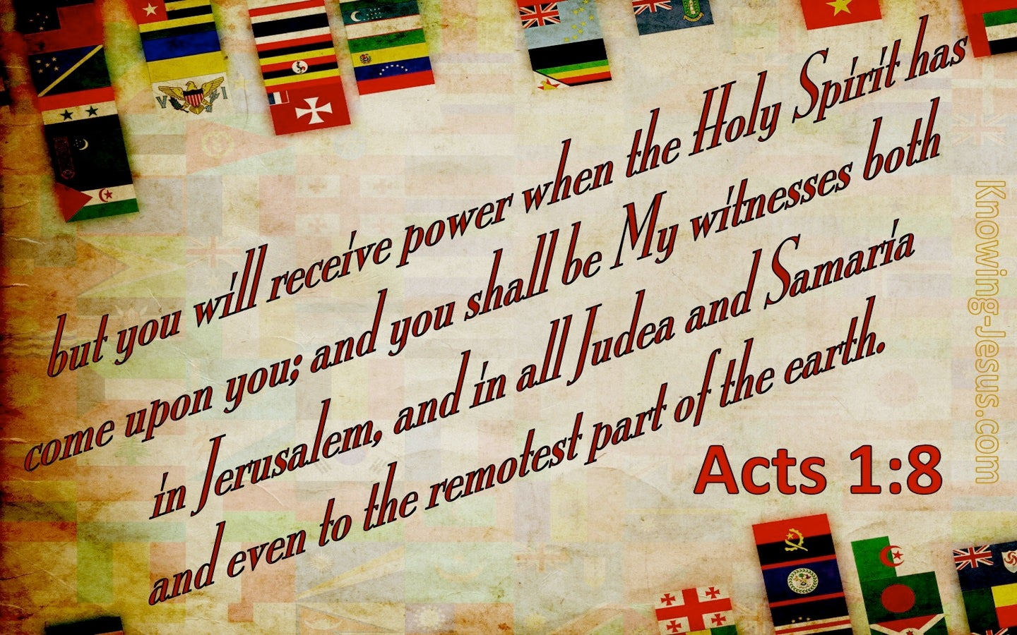 Acts 1:8 You Shall Be My Witnesses (beige)