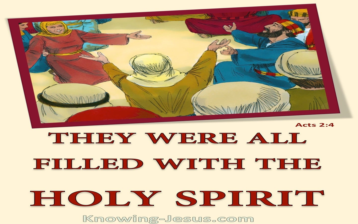 Acts 2:4 Filled With The Holy Spirit (red)