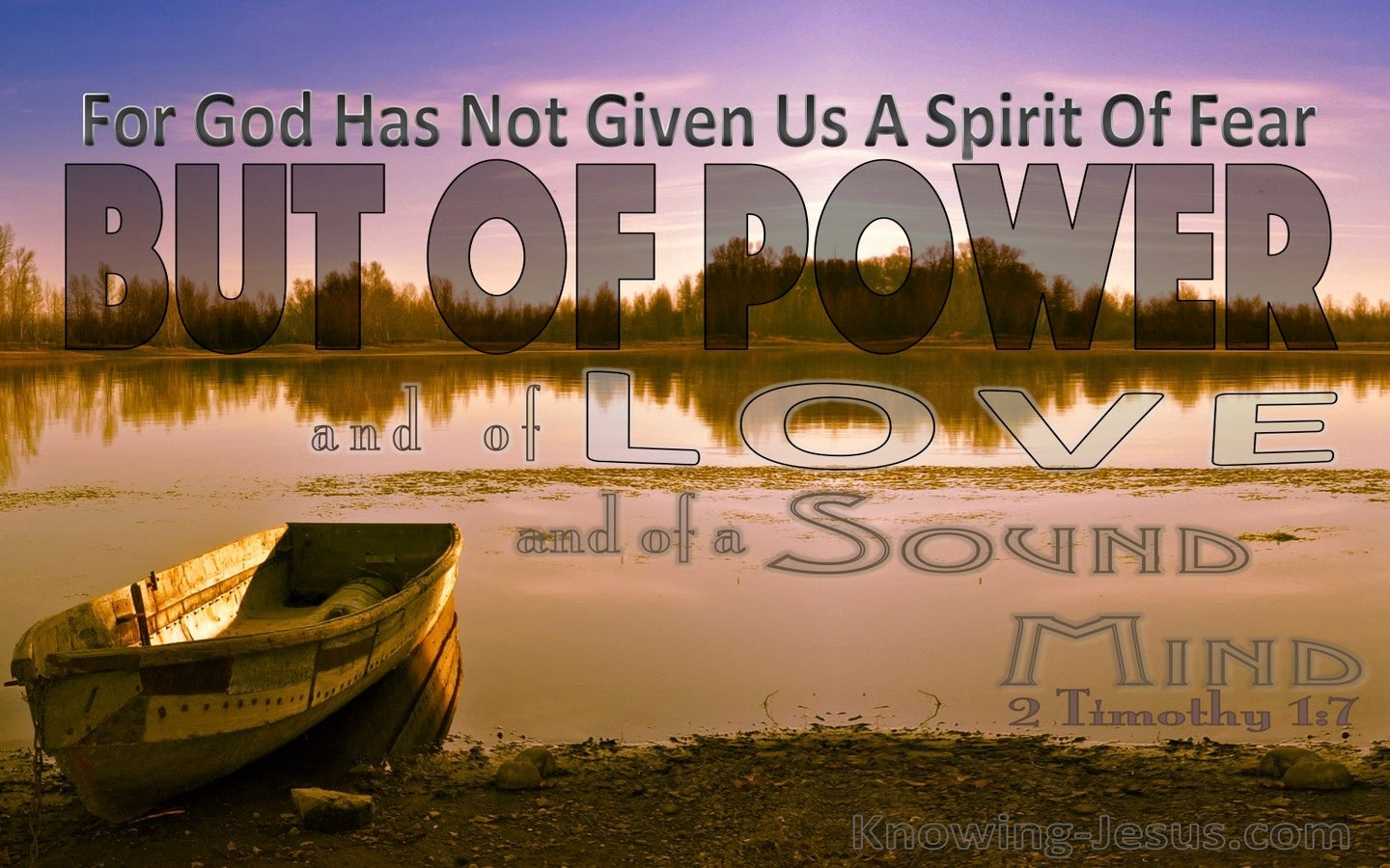2 Timothy  1-7 God Has Not Give Us A Spirit Of Fear (brown)