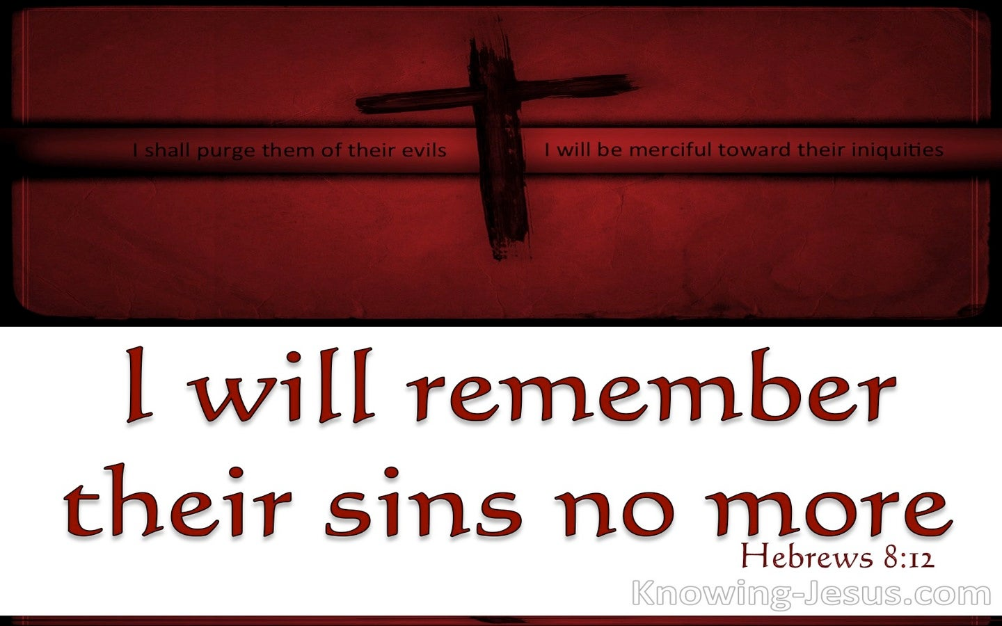 Hebrews 8:12 I Will Remember Their Sins No More (red)