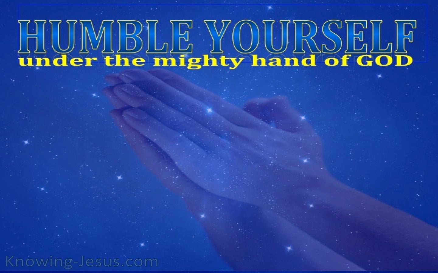 Humble Yourself (devotional) (blue) -1 Peter 5:6