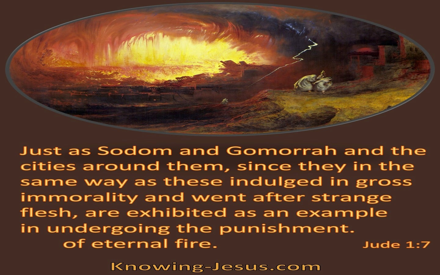 Jude 1:7 Sodom And Gomorrah Example Of Eternal Punishment (brown)