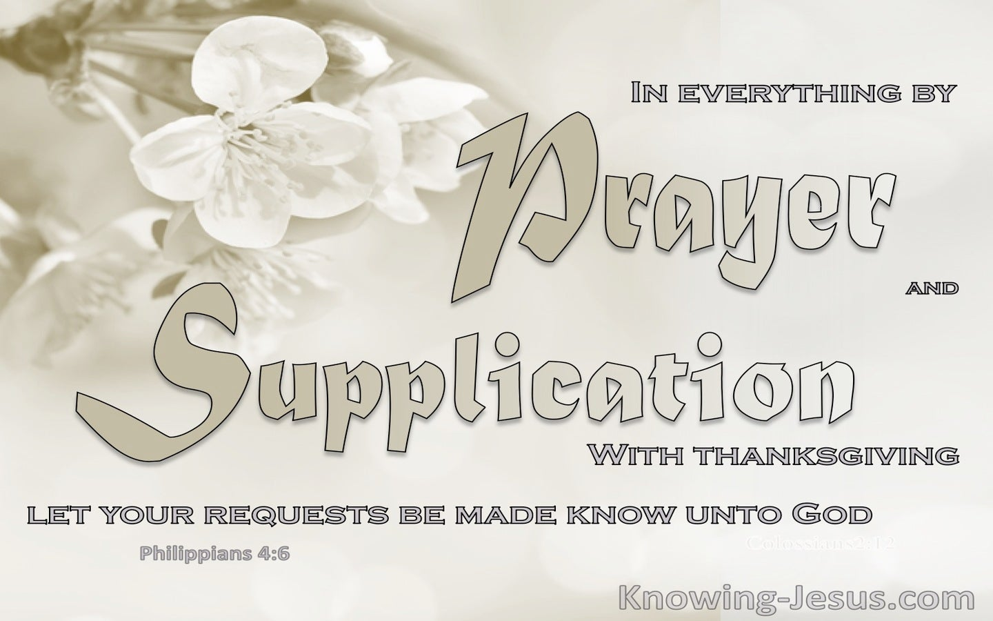 Philippians 4:6 Let Us Pray (devotional)03:14 (beige)